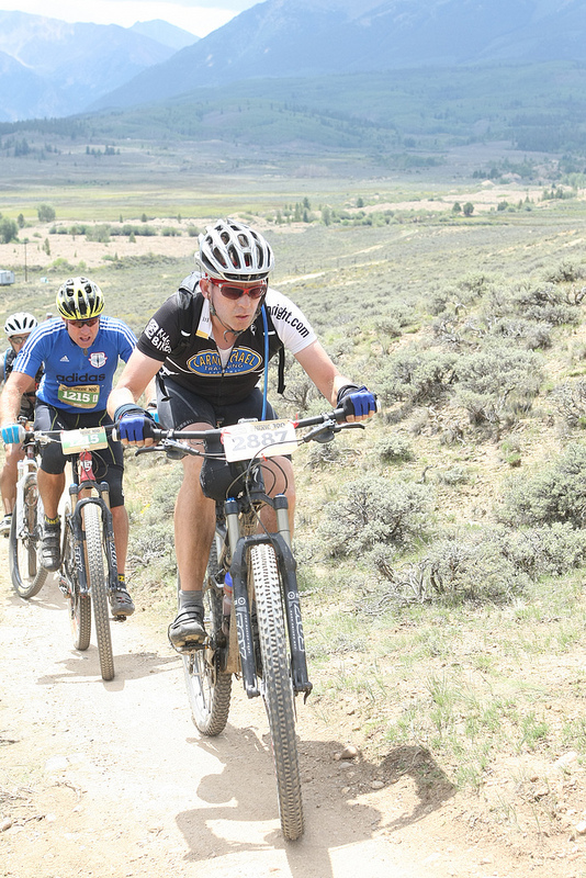 The Captain in action at the 2012 Leadville 100.